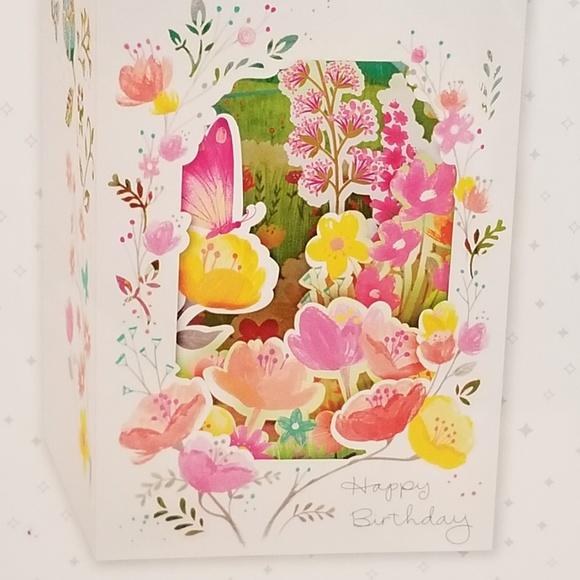 Magnificent Hallmark Office Nip 3D Popup Birthday Card Butterfly Poshmark Funny Birthday Cards Online Fluifree Goldxyz